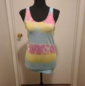 PINK victorias secret tie dye tank small